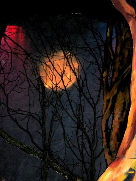 """""""Into The Woods,"""" Detail of the moon"""