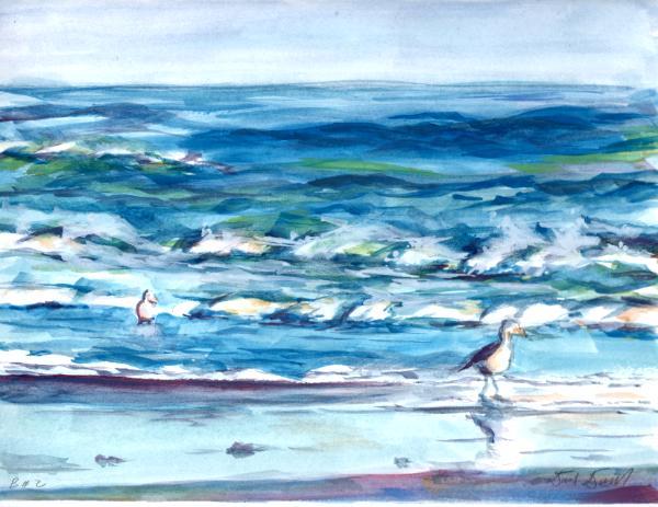 Beach with Gulls #2
