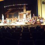 Overall theater shot of Godspell Set